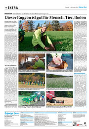 Schweizer Bauer Artikel Waldstaudenrogge