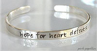 Hope for Heart Defects Cuff Child/Adult
