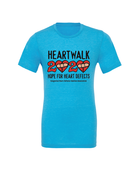 Adult blinged heart walk shirt