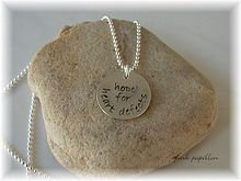 Hope for Heart Defects sterling silver necklace