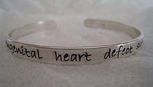 CHD Survivor Hand Stamped Bracelet Adult/Child