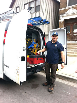 Our happy HVAC Technician Eric ready to make the repair!