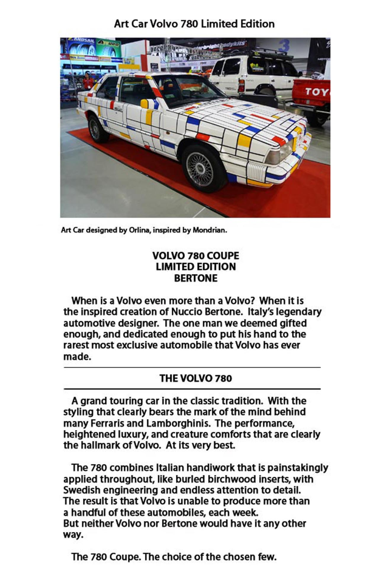 Volvo 780 Mondrian Art Car