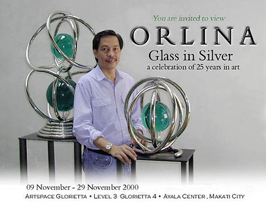 Glass in Silver invite