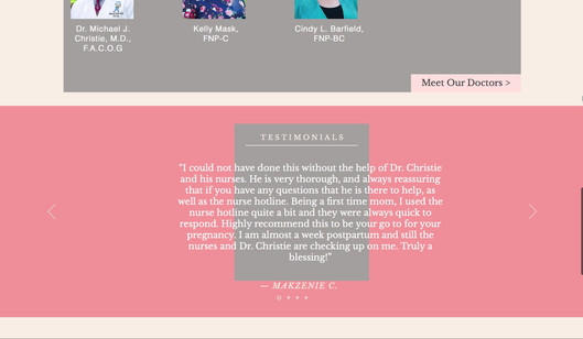 The Center for OB/GYN Website