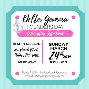 Gulf Coast Delta Gamma Founders Day Invite