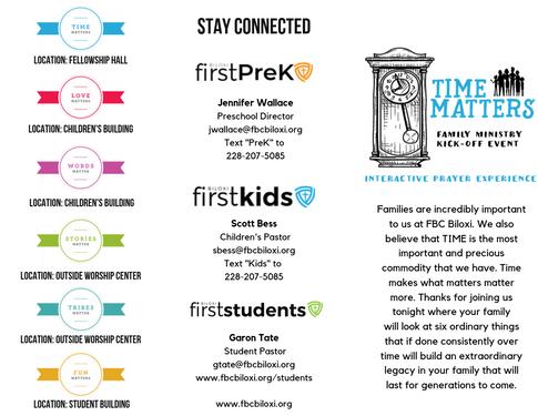 Time Matter's Brochure