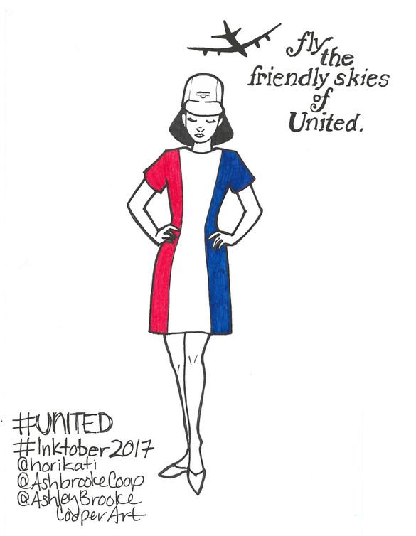 INKTOBER2017 10/29 #UNITED
