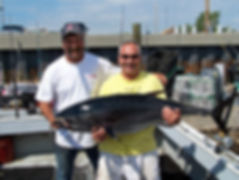 Local Fishing Legends Pete Santini & Chucky with a nice small Tuna