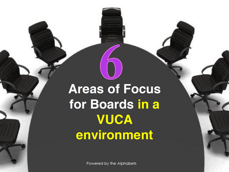 6 Areas of Focus for Boards in a VUCA Environment