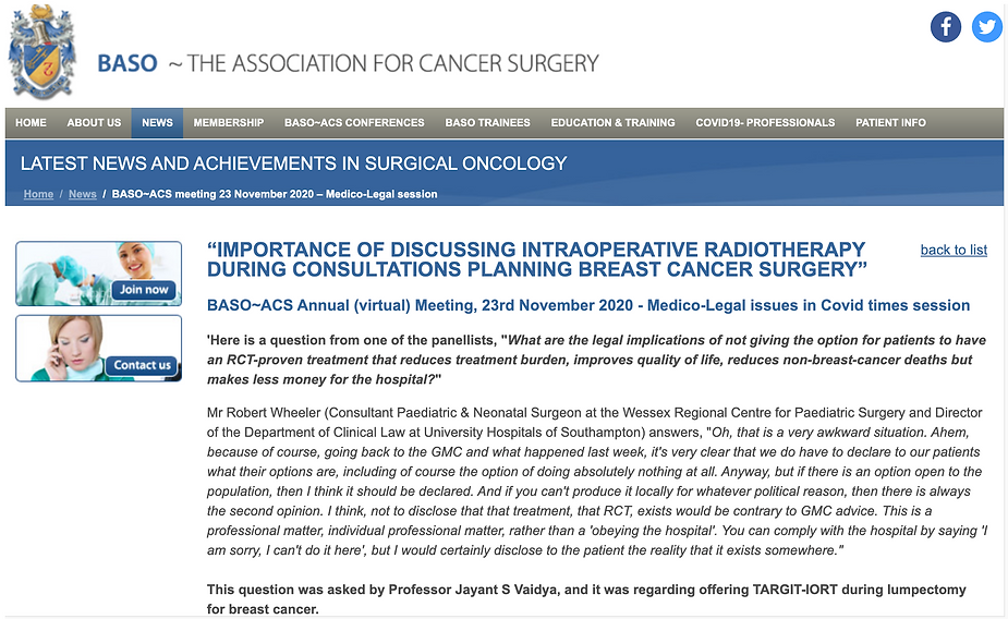 BASO guideline on medico-legal aspects o
