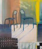 "'Us' oils and acrylic on canvas, 24""x30"", 2020. $450"
