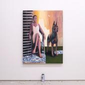 """'Companion' oil on canvas, 36"""" x 48"""", 2021. $3000"""