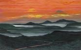 """Rwenzori Dawn"" acrylic on canvas, 36"" x 48"", 2016. (Sold)"