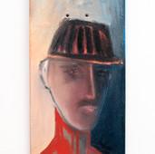 """""""Skate Portrait 2"""" oil and aerosol on skateboard, 2021. $400"""