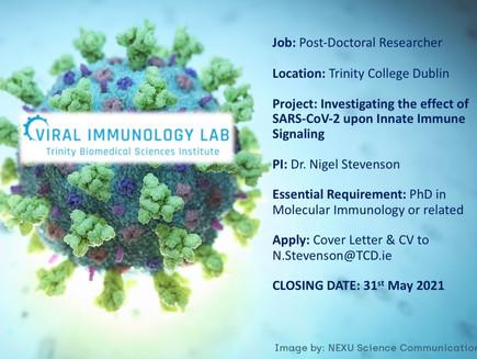 Postdoctoral Position in COVID-19 & Innate Immunity