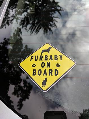 Furbaby on board sticker