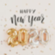 Happy New year 2020 celebration. Gold an