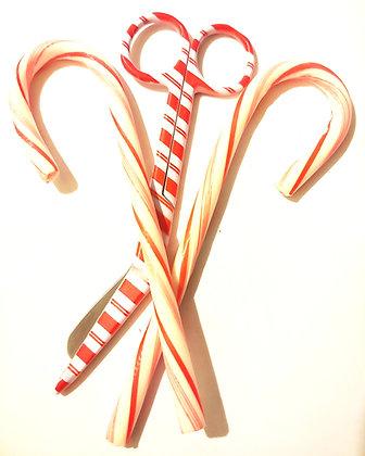 "Candy Cane 5.5"" scissors🍭🎄🎅🦌⛄"