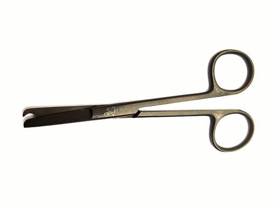 """Black 🎱 4.5"""" suture scissors"""