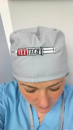 Syringe style scrub cap