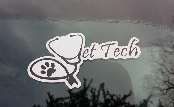Vettechstuff car sticker