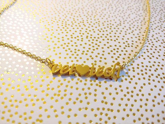 Vet tech gold necklace