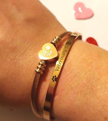 Valentine's ❤️ Bangles in rose gold