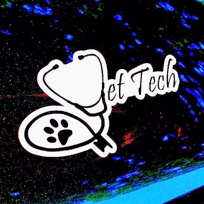 Vet tech signature car magnet