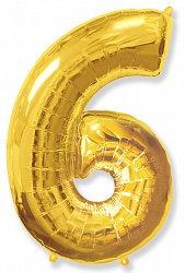 Цифра фольгированная 6