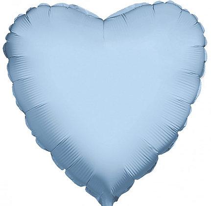 """Сердце 18"""" Голубое"""