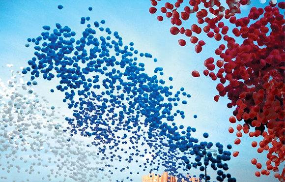 Запуск шаров по цветам
