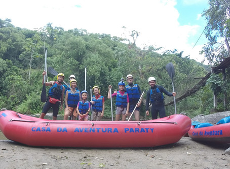 Rafting Céline e Familia
