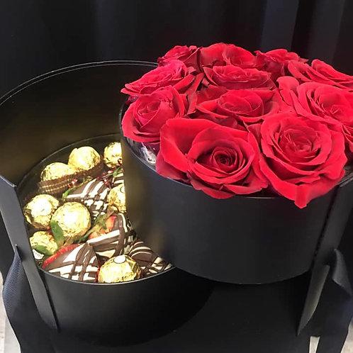 Hat Box Rose Arrangements