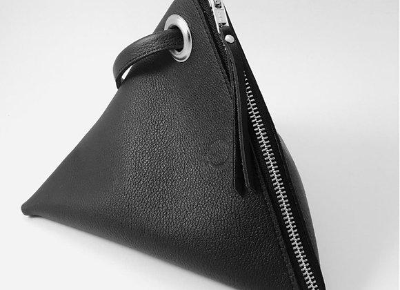 Pochette cuir noir atelier occitana