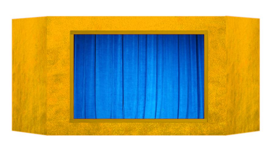 Casinha de fantoches - Amarela
