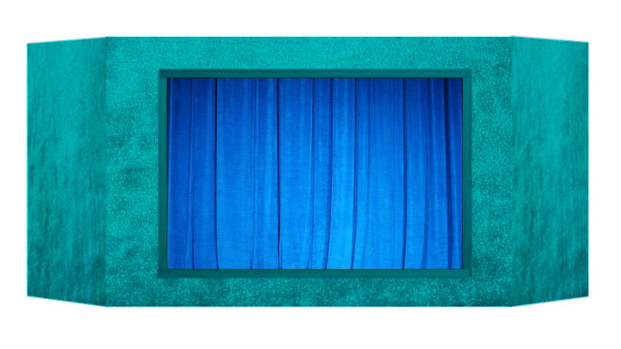 Casinha de fantoches - Azul claro