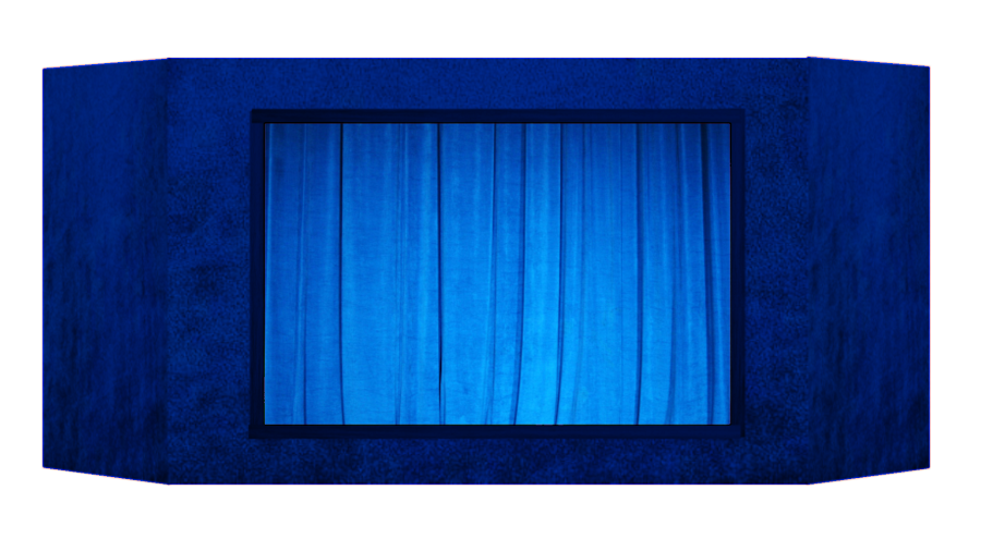 Casinha de fantoches - Azul escuro
