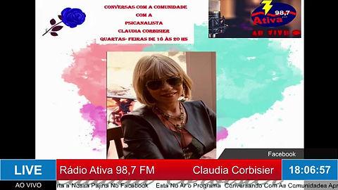 Segundo programa Conversas com a Comunidade com a psicanalista ClaudiaCorbisier