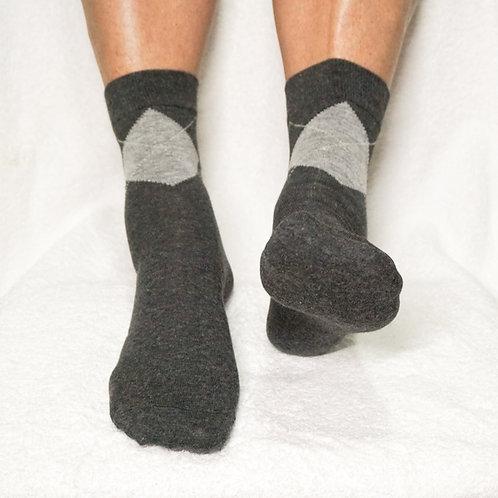 Pedisil Gel Klassieke Heren Sok met Hielbescherming – Antraciet