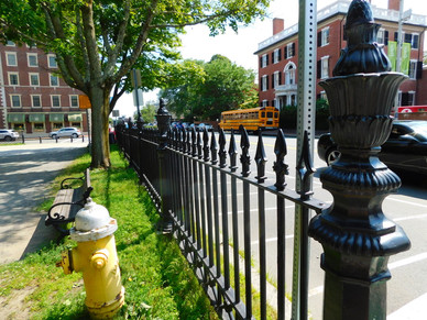 large pointed fence