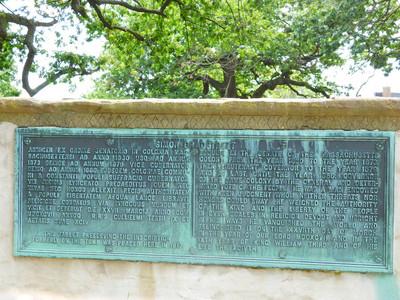 plaque on Salem witch grave memorial