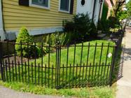 pointed garden fence