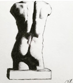 drawing of a bust