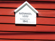 sign saying the house was for nathaniel very the blacksmith in 1841