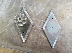 Diamond Back Plate with Hook