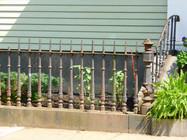 twisted bar garden fence