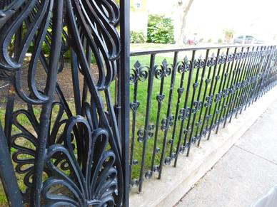 scroll work garden fence