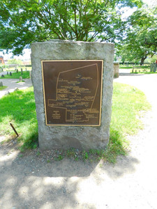 plaque for Salem witch memorial layout