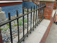 twisted and straight beam garden fence